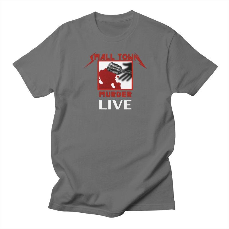 Small Town Murder Live - Metallica Men's T-Shirt by True Crime Comedy Team Shop