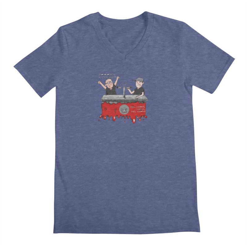Yay, Indeed, Jimmie. Men's Regular V-Neck by True Crime Comedy Team Shop