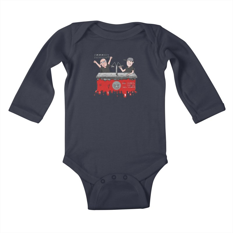 Yay, Indeed, Jimmie. Kids Baby Longsleeve Bodysuit by True Crime Comedy Team Shop