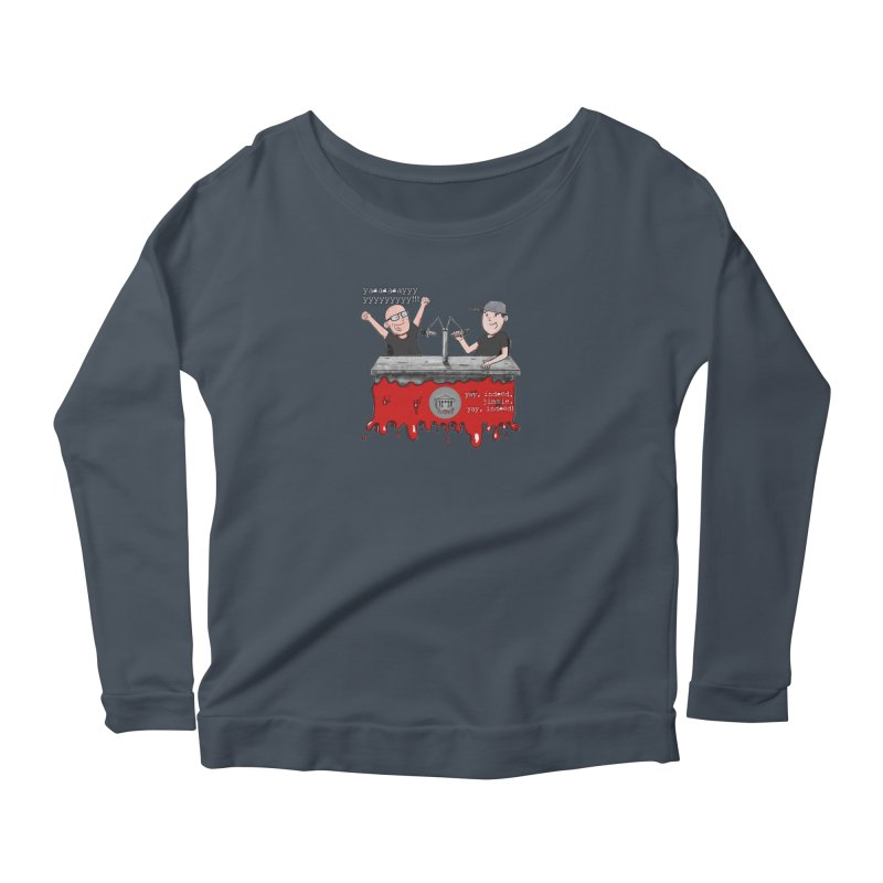 Yay, Indeed, Jimmie. Women's Scoop Neck Longsleeve T-Shirt by True Crime Comedy Team Shop