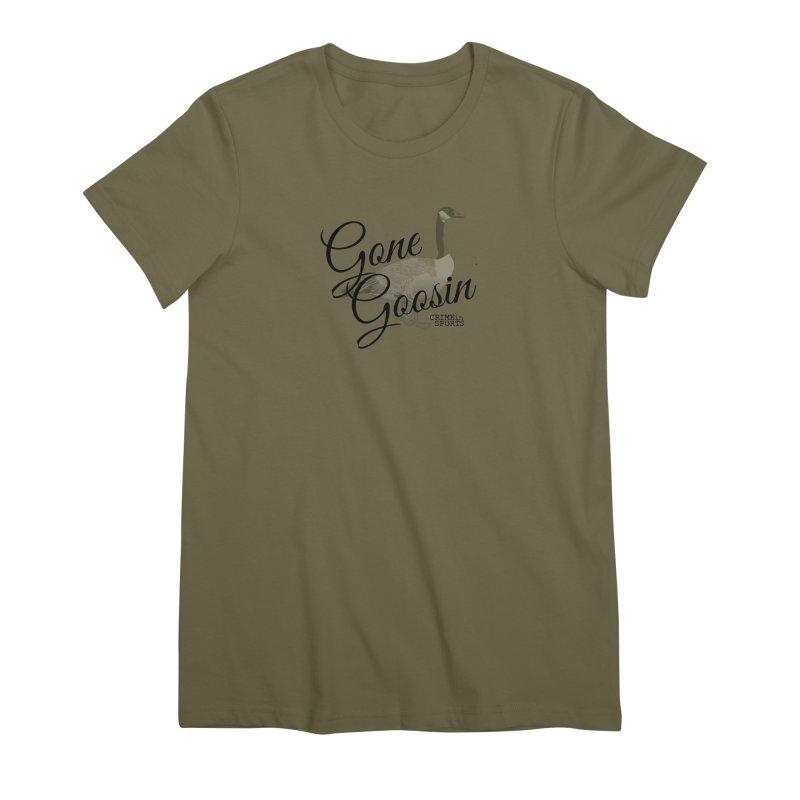 Gone Goosin' Women's Premium T-Shirt by True Crime Comedy Team Shop
