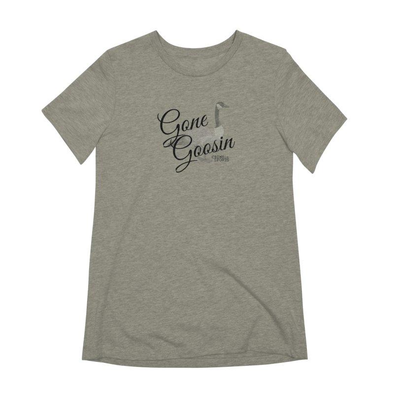 Gone Goosin' Women's Extra Soft T-Shirt by True Crime Comedy Team Shop