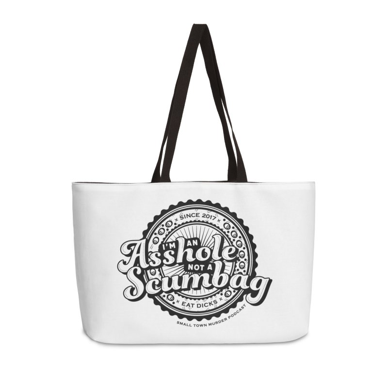 Asshole not a scumbag Accessories Weekender Bag Bag by True Crime Comedy Team Shop