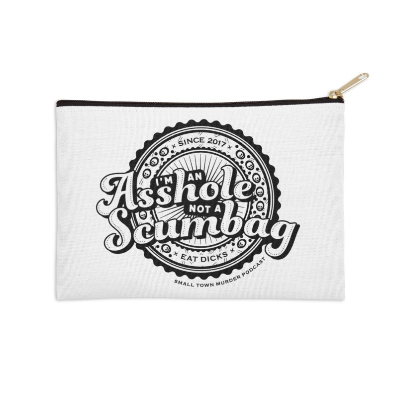 Asshole not a scumbag Accessories Zip Pouch by True Crime Comedy Team Shop