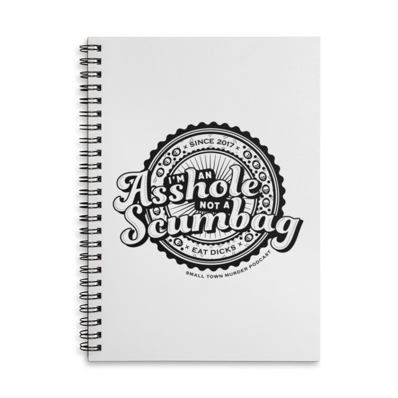 Asshole not a scumbag Accessories Lined Spiral Notebook by True Crime Comedy Team Shop