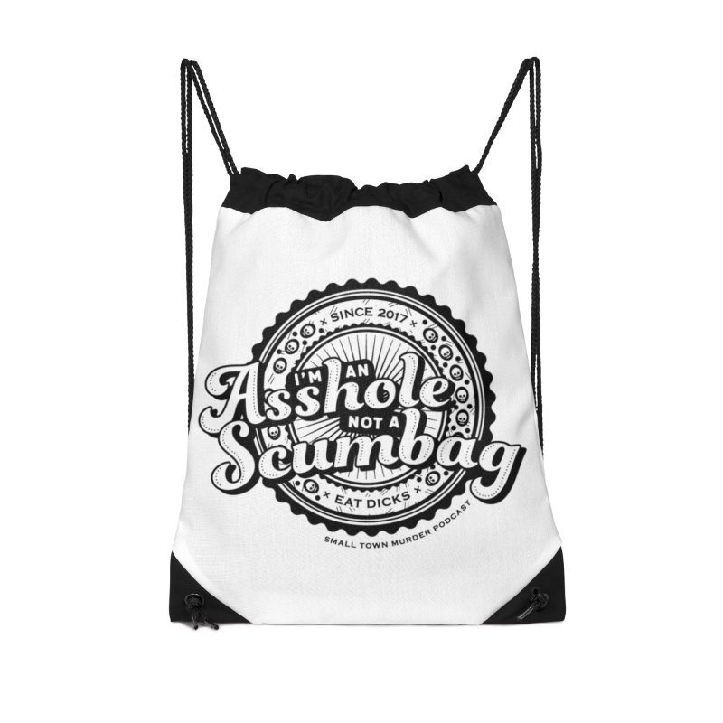 Asshole not a scumbag Accessories Drawstring Bag Bag by True Crime Comedy Team Shop