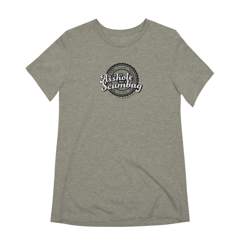 Asshole not a scumbag Women's Extra Soft T-Shirt by True Crime Comedy Team Shop