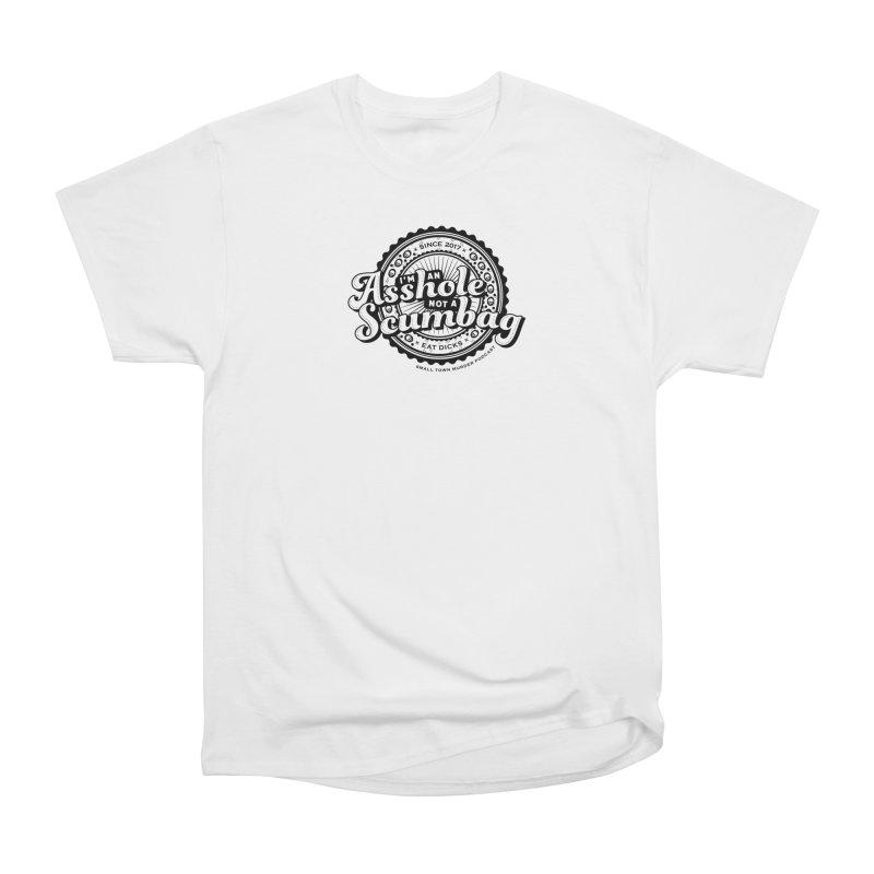 Asshole not a scumbag Women's Heavyweight Unisex T-Shirt by True Crime Comedy Team Shop