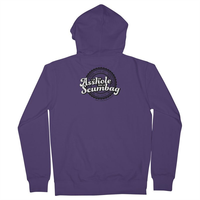 Asshole not a scumbag Women's French Terry Zip-Up Hoody by True Crime Comedy Team Shop