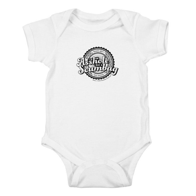 Asshole not a scumbag Kids Baby Bodysuit by True Crime Comedy Team Shop