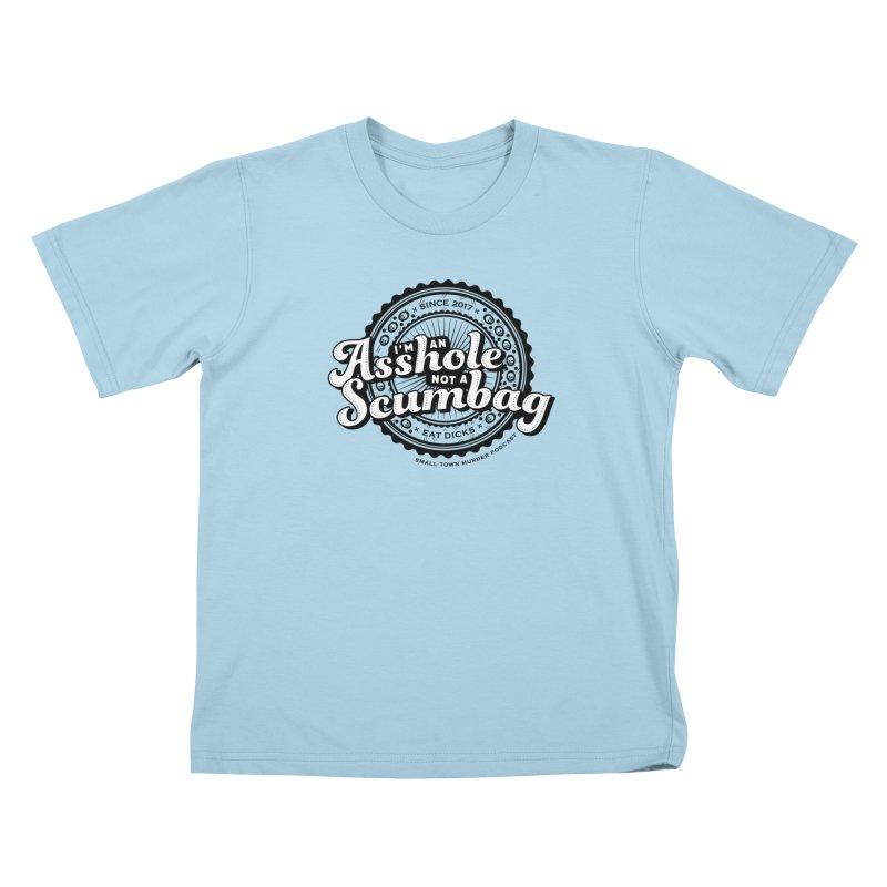 Asshole not a scumbag Kids T-Shirt by True Crime Comedy Team Shop