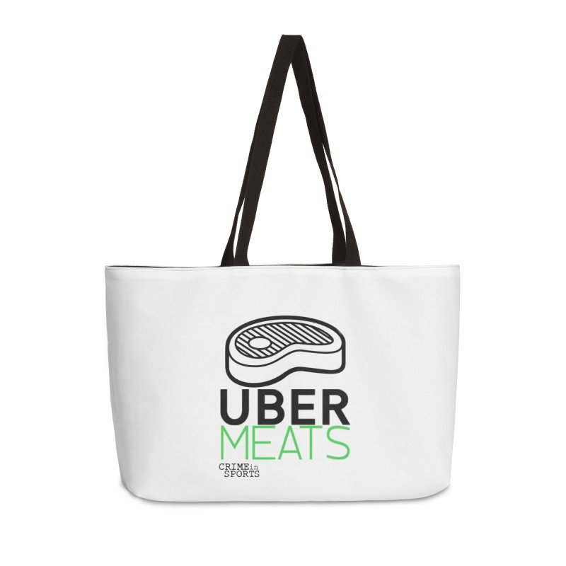 uber meats Accessories Weekender Bag Bag by True Crime Comedy Team Shop