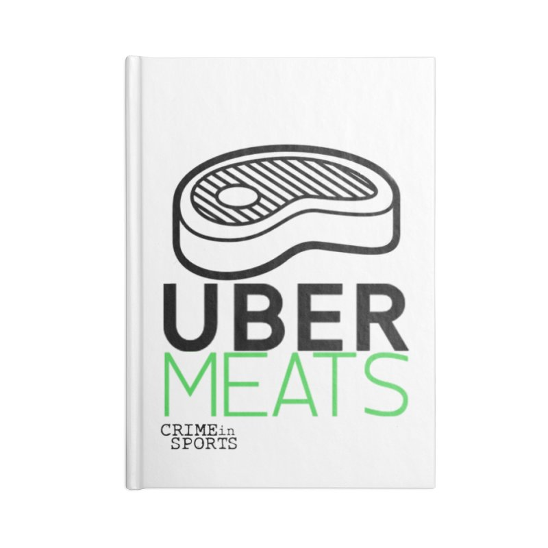 uber meats Accessories Lined Journal Notebook by True Crime Comedy Team Shop