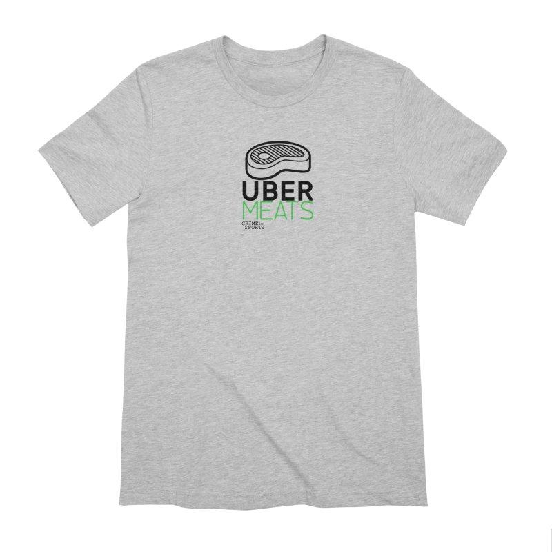 uber meats Men's Extra Soft T-Shirt by True Crime Comedy Team Shop