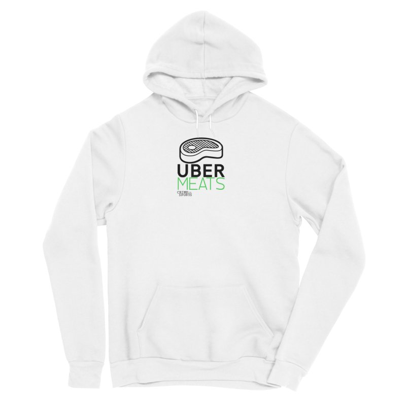 uber meats Men's Sponge Fleece Pullover Hoody by True Crime Comedy Team Shop