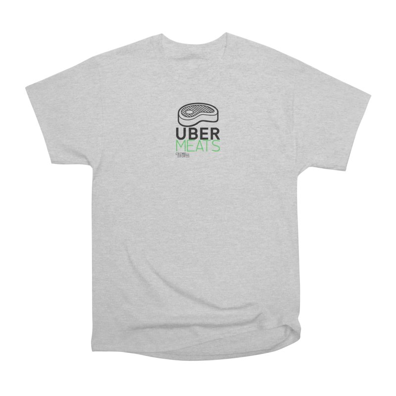 uber meats Men's Heavyweight T-Shirt by True Crime Comedy Team Shop
