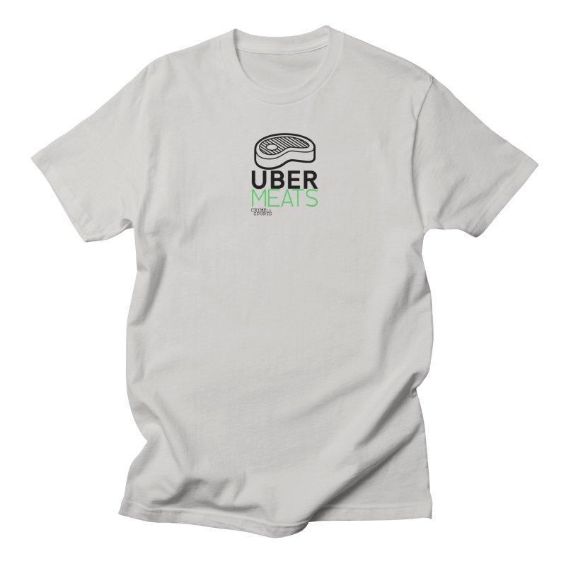 uber meats Men's Regular T-Shirt by True Crime Comedy Team Shop