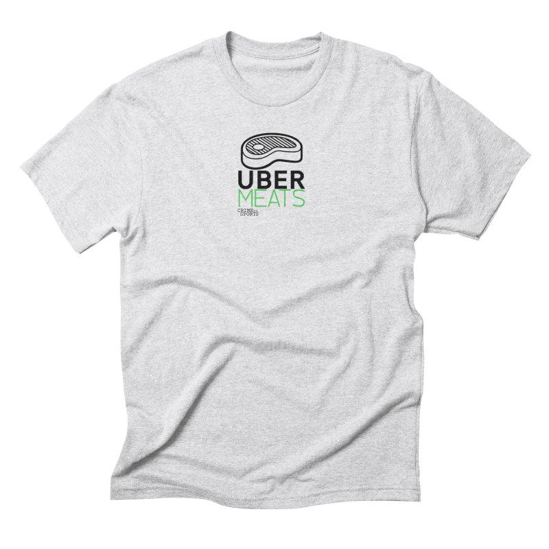 uber meats Men's Triblend T-Shirt by True Crime Comedy Team Shop