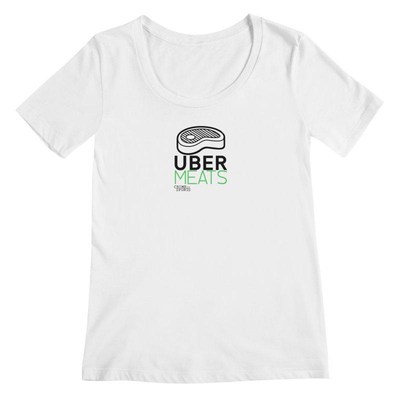 uber meats Women's Regular Scoop Neck by True Crime Comedy Team Shop