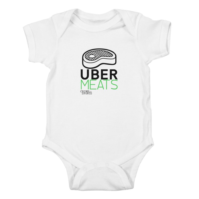 uber meats Kids Baby Bodysuit by True Crime Comedy Team Shop