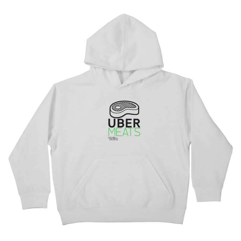 uber meats Kids Pullover Hoody by True Crime Comedy Team Shop