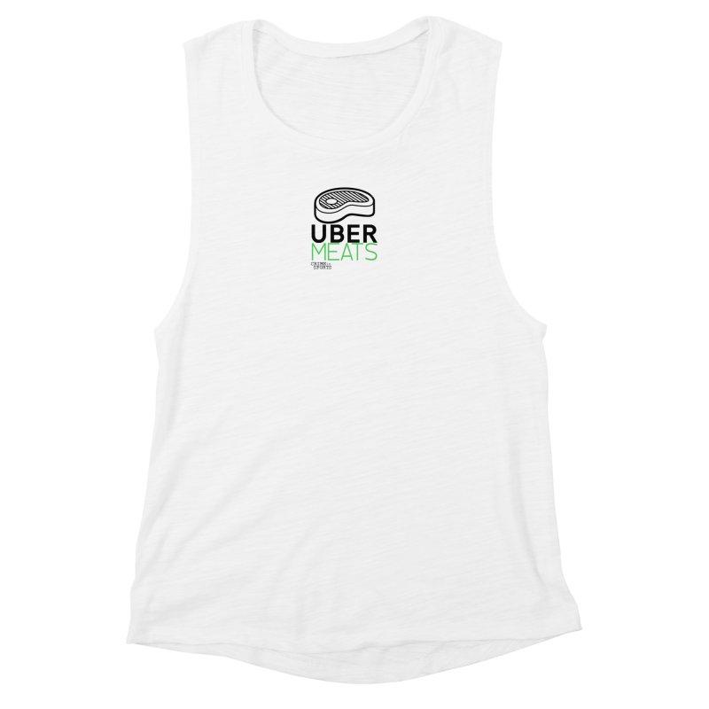 uber meats Women's Muscle Tank by True Crime Comedy Team Shop