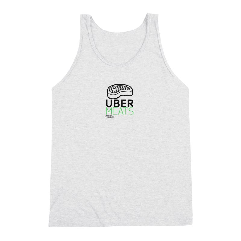 uber meats Men's Triblend Tank by True Crime Comedy Team Shop