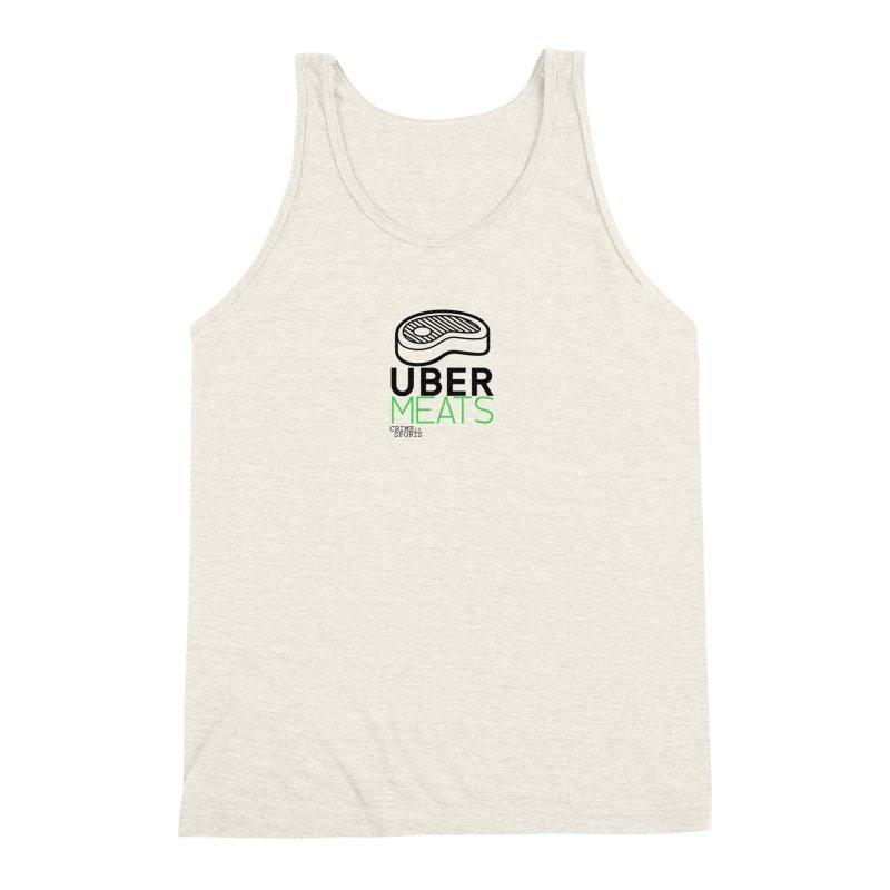 uber meats Men's Triblend Tank by True Crime Comedy Team Shop