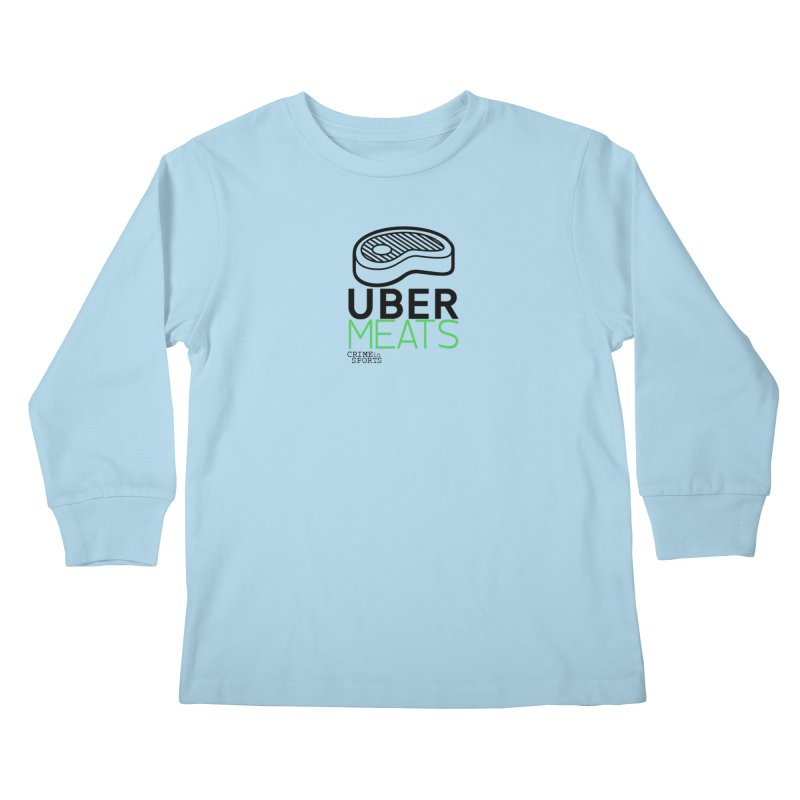 uber meats Kids Longsleeve T-Shirt by True Crime Comedy Team Shop