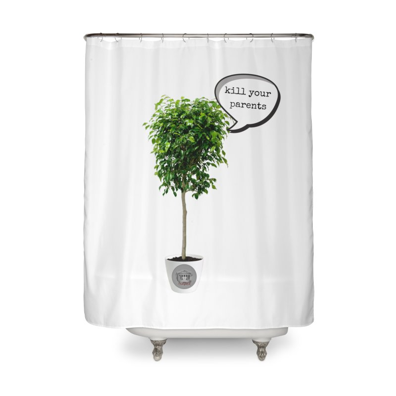 Murder Ficus Home Shower Curtain by True Crime Comedy Team Shop