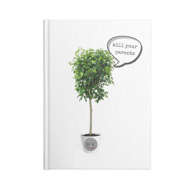 Murder Ficus Accessories Lined Journal Notebook by True Crime Comedy Team Shop