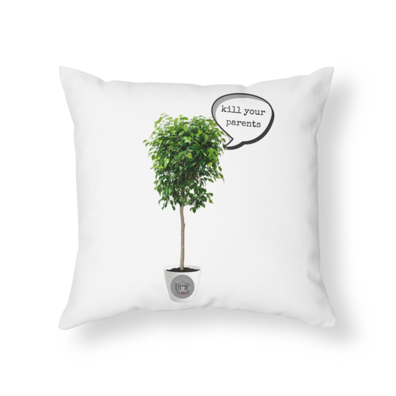 Murder Ficus Home Throw Pillow by True Crime Comedy Team Shop