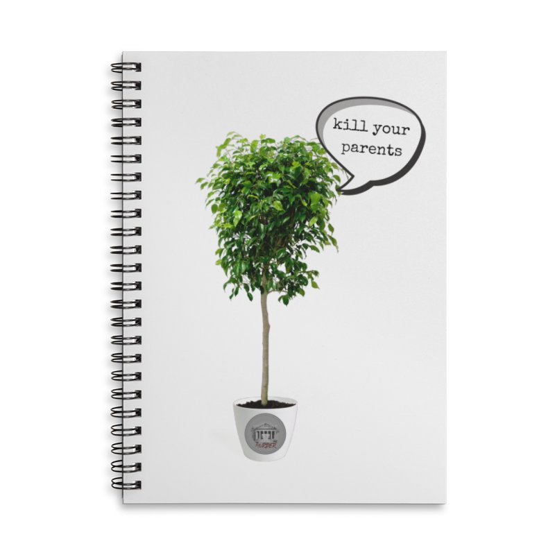 Murder Ficus Accessories Lined Spiral Notebook by True Crime Comedy Team Shop