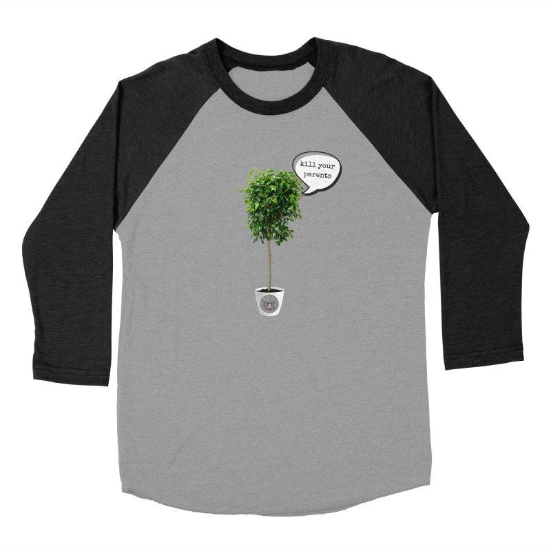 Murder Ficus Women's Baseball Triblend Longsleeve T-Shirt by True Crime Comedy Team Shop