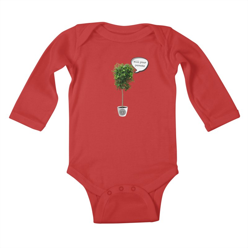 Murder Ficus Kids Baby Longsleeve Bodysuit by True Crime Comedy Team Shop