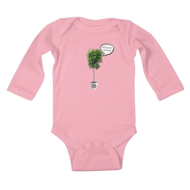 Murder Ficus Kids Baby Longsleeve Bodysuit by True Crime Comedy Team Shop
