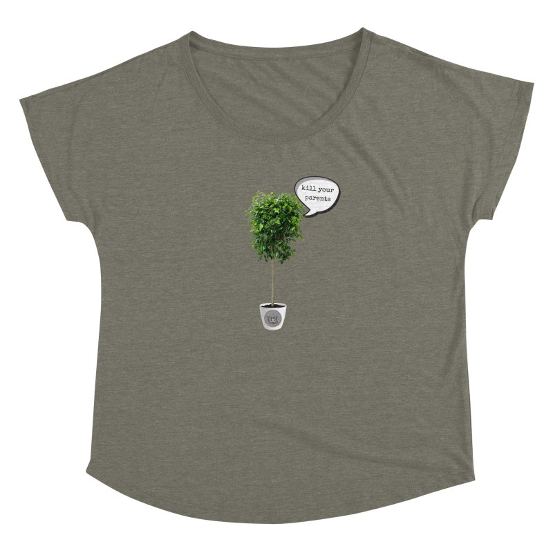 Murder Ficus Women's Dolman Scoop Neck by True Crime Comedy Team Shop
