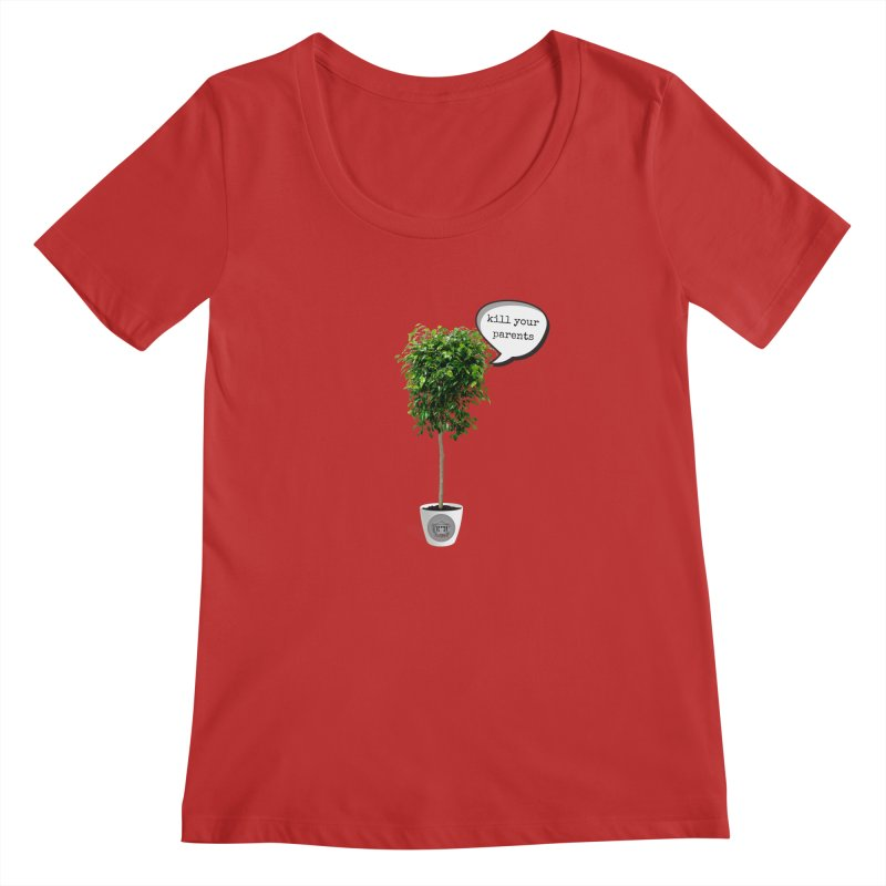 Murder Ficus Women's Regular Scoop Neck by True Crime Comedy Team Shop