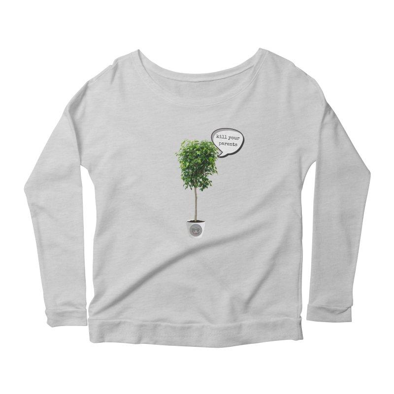 Murder Ficus Women's Scoop Neck Longsleeve T-Shirt by True Crime Comedy Team Shop