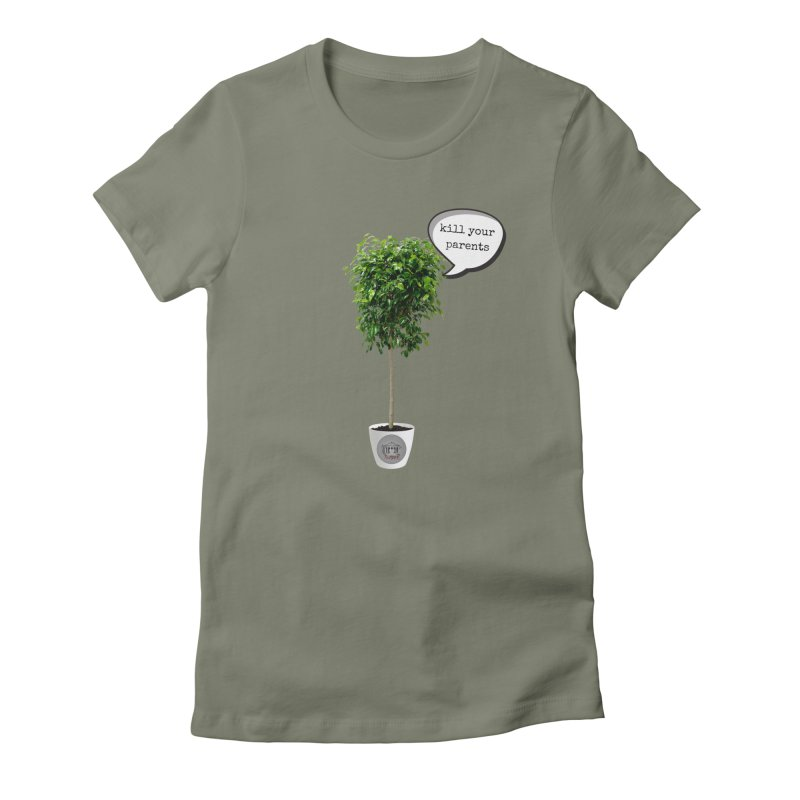 Murder Ficus Women's Fitted T-Shirt by True Crime Comedy Team Shop