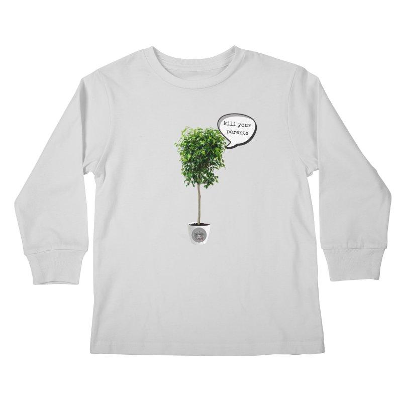 Murder Ficus Kids Longsleeve T-Shirt by True Crime Comedy Team Shop