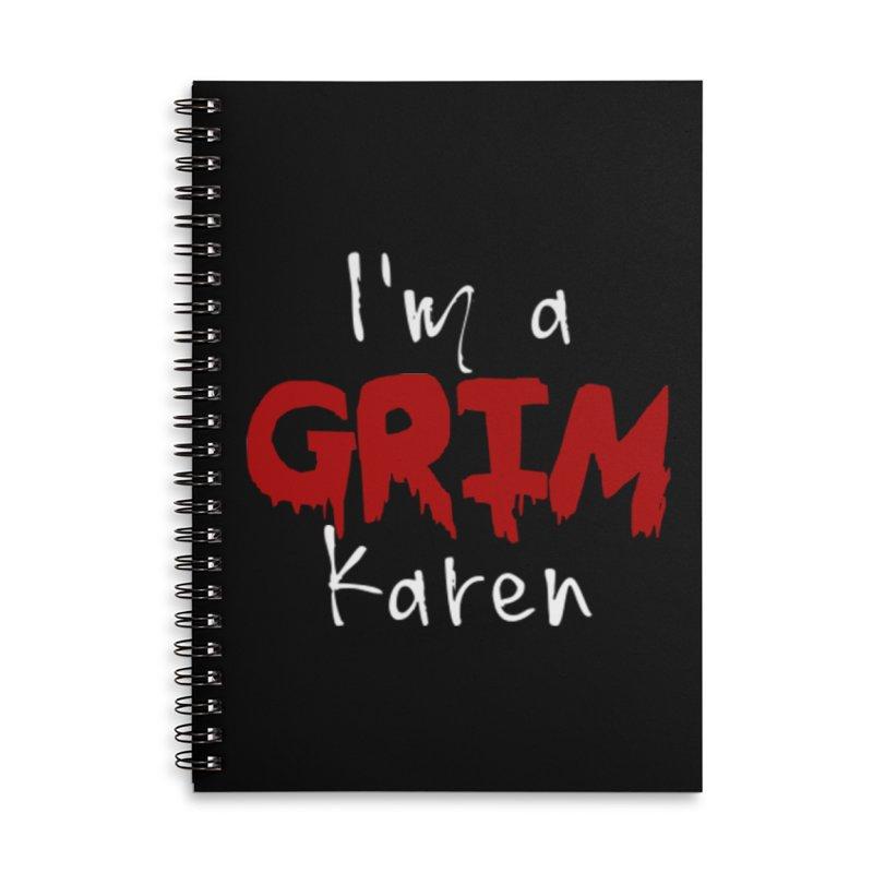I'm a Grim Karen Accessories Lined Spiral Notebook by True Crime Comedy Team Shop