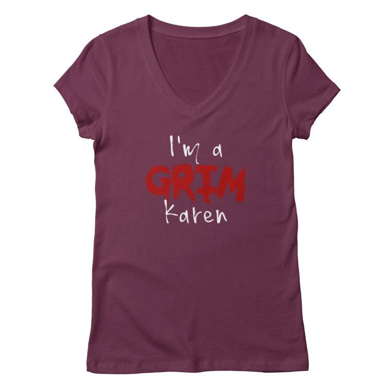 I'm a Grim Karen Women's Regular V-Neck by True Crime Comedy Team Shop