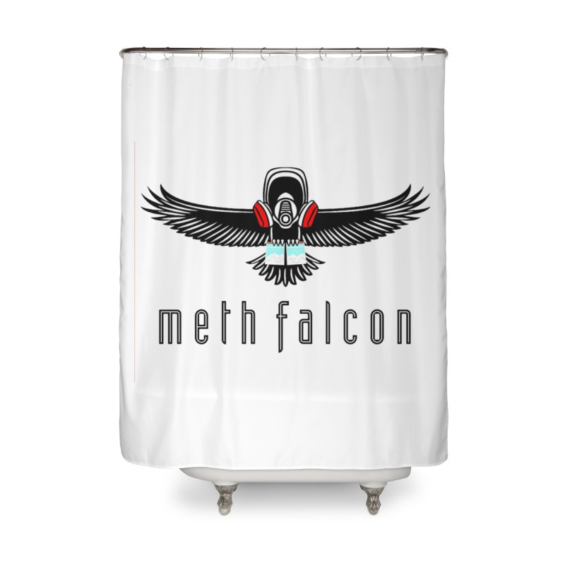 meth falcon Home Shower Curtain by True Crime Comedy Team Shop