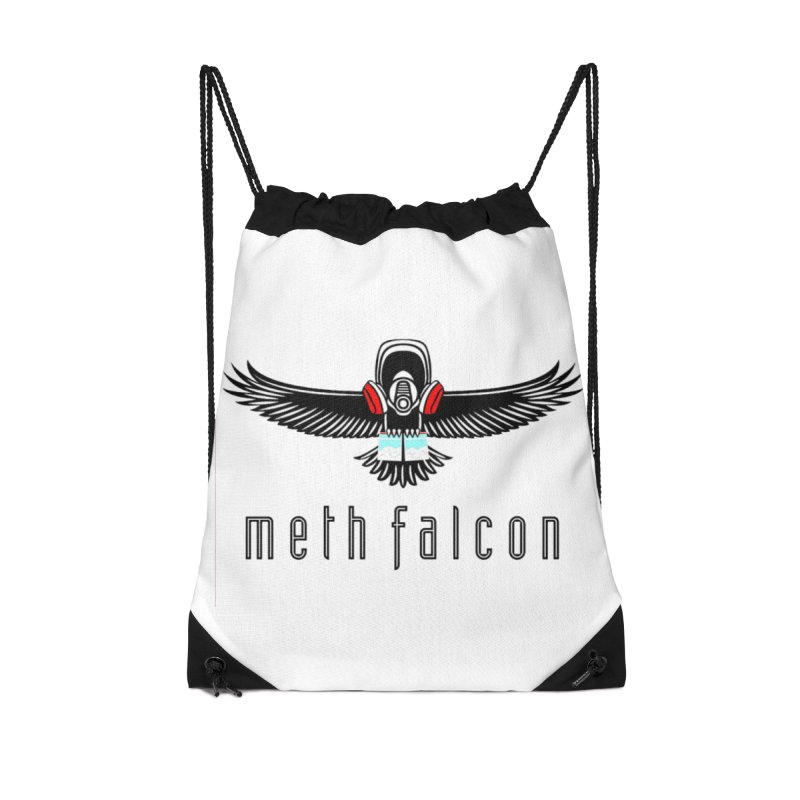 meth falcon Accessories Drawstring Bag Bag by True Crime Comedy Team Shop