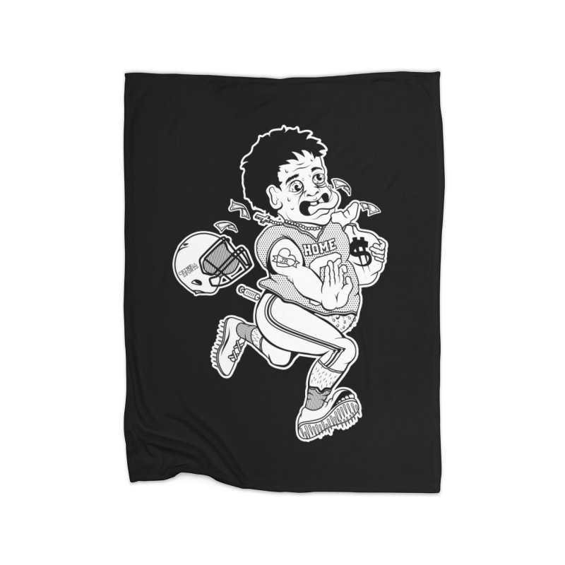 Crime in Sports Home Fleece Blanket Blanket by True Crime Comedy Team Shop