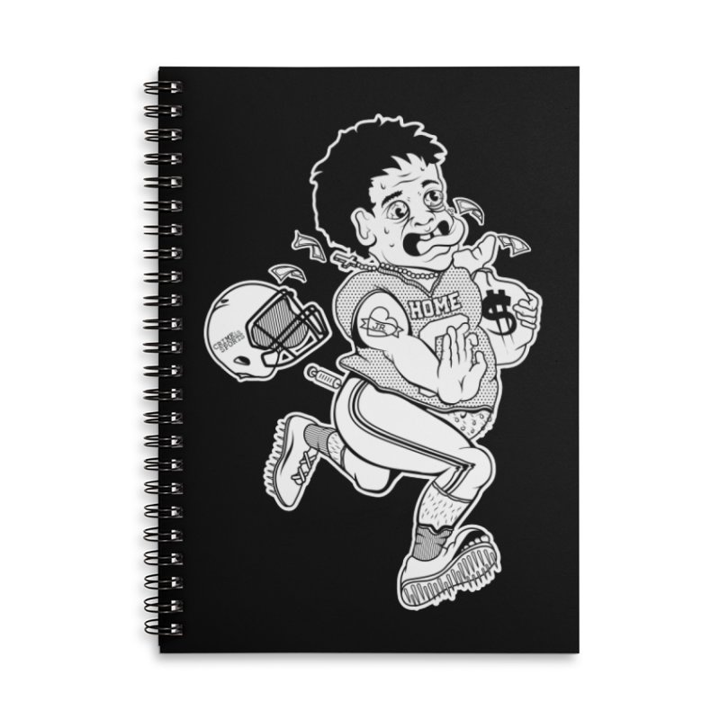 Crime in Sports Accessories Lined Spiral Notebook by True Crime Comedy Team Shop