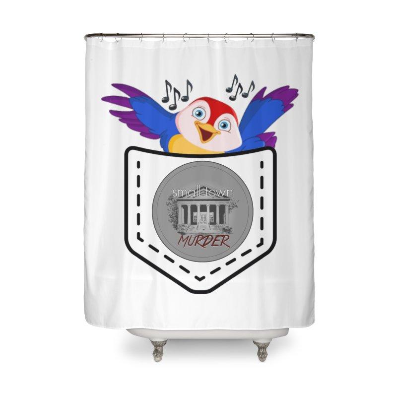 Pocket Robin Home Shower Curtain by True Crime Comedy Team Shop