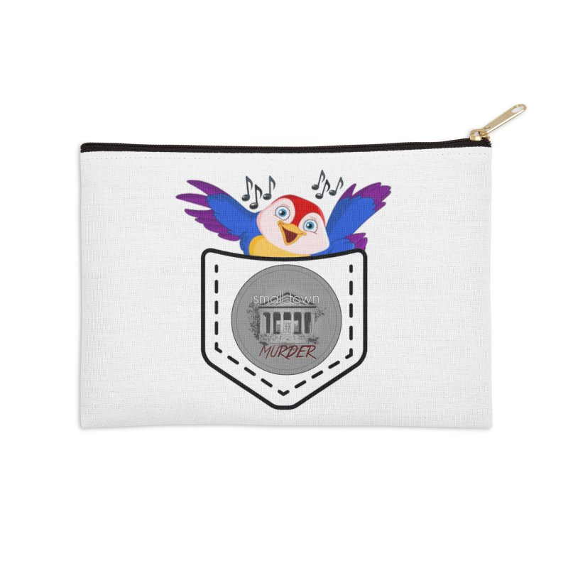 Pocket Robin Accessories Zip Pouch by True Crime Comedy Team Shop