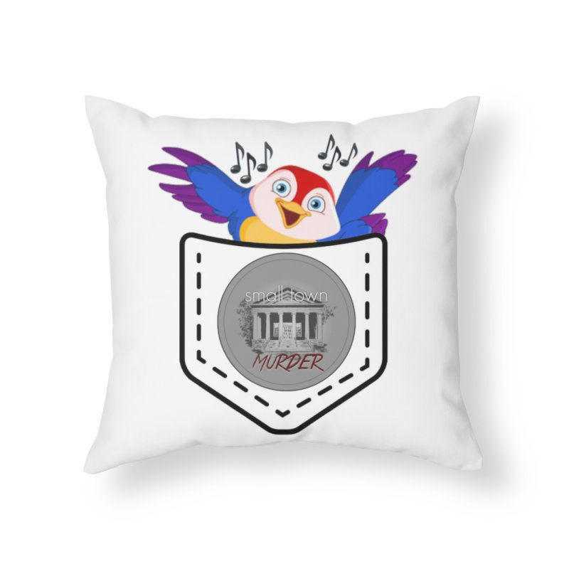 Pocket Robin Home Throw Pillow by True Crime Comedy Team Shop